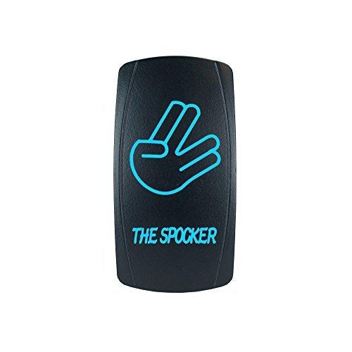 STVMotorsports Laser Backlit Blue Rocker Switch The SPOCKER 20A 12V On/Off LED Light