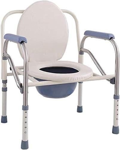 GBX Beweglich Faltbare Durablefolding Potty Wc Stuhl, Non-Slip | Nacht Commodes Chair (Carbon Steel + Edelstahl) Mit Armlehnen | Abnehmbare Stücke Für Lagerung,B