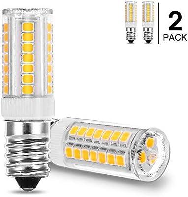 Fulighture E14 Bombilla LED campana extractora, Rosca Edison Pequeña, 5W Equivalente a Bombillas Halógena de 40W Blanco Cálido 3000K 400lm, 360 ° Ángulo de Haz, No Regulable, 2 Unidades: Amazon.es: Iluminación