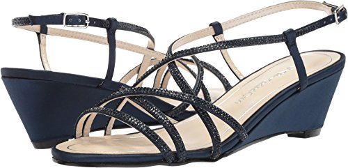 Caparros Womens Leighton Navy Satijn
