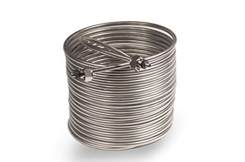 Jockey Box Coil 3/8-inch 50' Stainless Steel Tubing with Fit