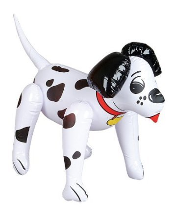 Dalmatian Fire Dog - Set of 2 Adorable Inflatable Dalmations - 24 Inch / Fire House Dogs / Party Decor / Favor / Decoration / Stocking Stuffer