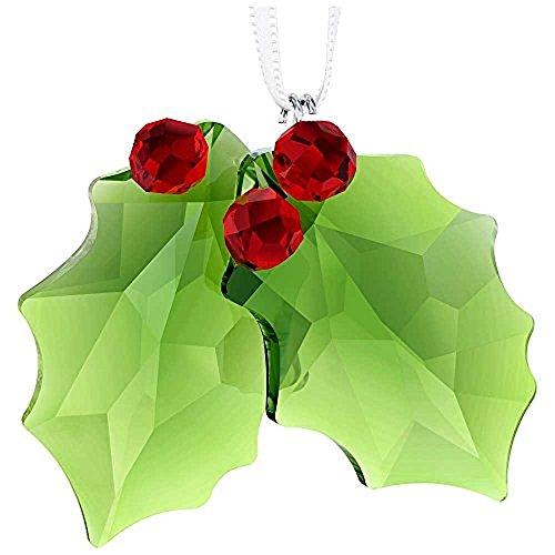 - Swarovski Crystal Holly Ornament