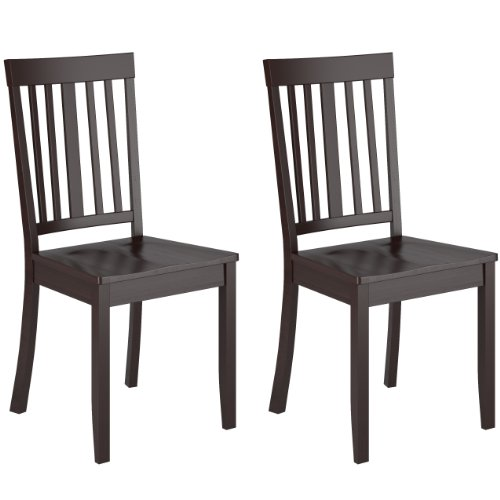 CorLiving DAT-195-C Atwood Stained Dining Chairs, Cappuccino, Set of 2