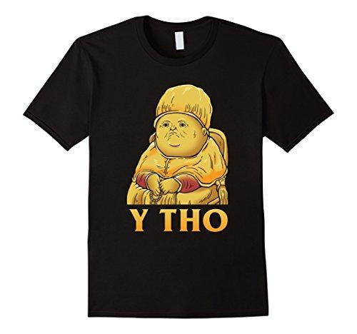 Mens Y Tho T-Shirt - Dank Meme Medium Black (Tho Thos)