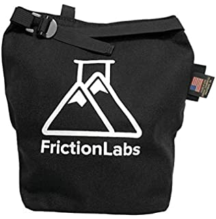 FrictionLabs Climbing Chalk Bucket Stand Bag with Zip Storage | Organic Climbing Collaboration Hand-Sewn