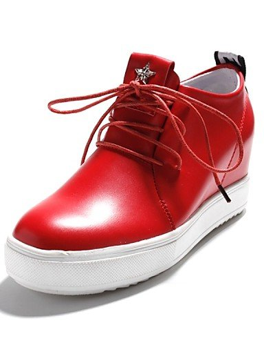 Deporte eu36 cn39 Laboral ZQ Oxfords us8 Tacón 5 Casual Rojo eu39 Punta us5 white cn39 Blanco hug Redonda uk3 Semicuero uk6 us8 red Zapatos de mujer eu39 uk6 Negro red cn35 Plano 5 PRqvCrPx