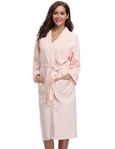 Aibrou De Robe Woven Kimono Algod Waffle PxPTUA0Br