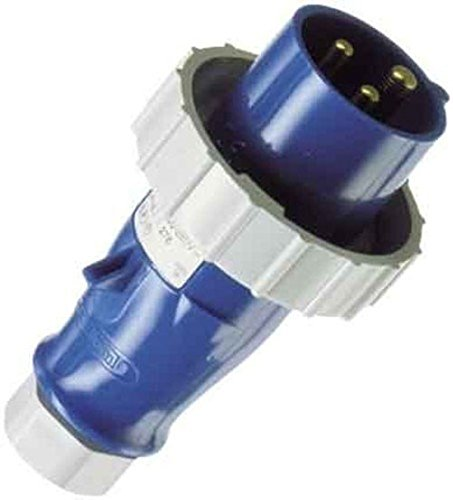 16 A Current 6 hours Earth Position 230V 3 Pole MENNEKES 278 AMV-TOP Single Part Body Plug IP 67 Protection Blue