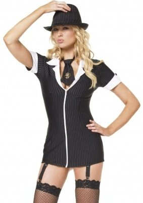 Gangsta Girl Adult Costume - (Gangsta Girl Costume)