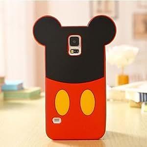 YULIN La historieta del ratón de silicona caso de teléfono celular para Samsung Galaxy i9600 S5 , Red