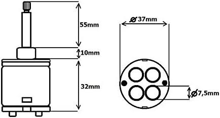 4 Funciones Cartucho de cerámica Para grifo Monomando para ...