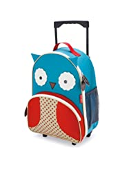Skip Hop Zoo Little Kid & Toddler Rolling Luggage, Otis Owl