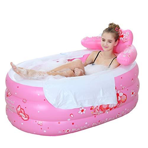 Mingteng Bañera Plegable bañera Hinchable Engrosamiento Aislamiento bañera Adulto bañera Plegable bañera de niños...