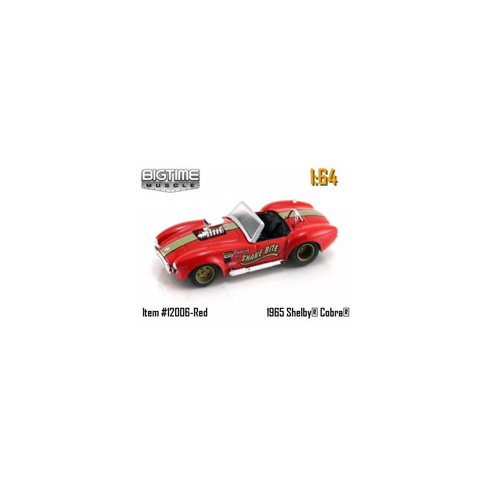 Jada Dub City Big Time Muscle Red with Gold Stripe Snake Bite 1965 Shelby Cobra 427 S/C 164 Scale Die Cast Car