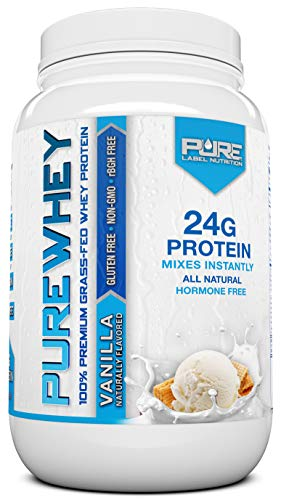 Grass Fed Whey Protein Powder | Vanilla 2lb Grass Fed Whey | 100% Natural Whey w/No Added Sugars | rBGH Free + GMO-Free + Gluten Free + Preservative Free | Pure Whey ()
