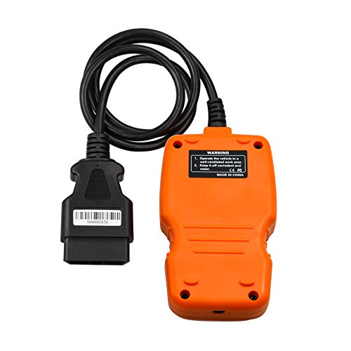 OM123 Vehicle Car Fault Code Reader - PerryLee Mini Portable LCD OBDMATE OBDII OBD2 EOBD+CAN Scan Scanner Tool Car Vehicle Auto Engine Trouble Analyzer Tester Diagnostic Code Scanner Tool Orange by PerryLee (Image #3)