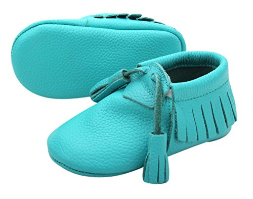 Unique Baby Quality Leather Baby Moccasin with Hanging Tasse