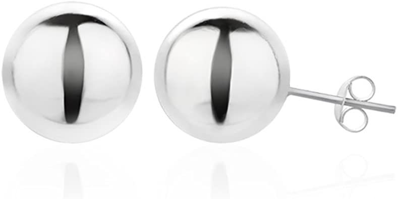 Sterling Silver Polished 4mm//8mm Ball Front Back Post Earrings Front /& Back 4 and 8 mm 4 and 8 mm Ball Earrings Jewelry