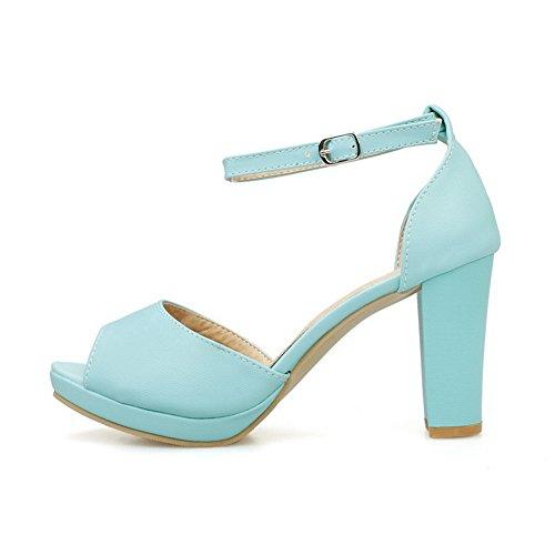Tacco Sandals Sandali Alto Asl04854 Blu Womens Balamasa Huarache Uretano In FE5wPqq