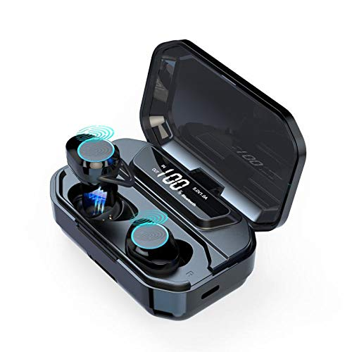 [2019 Upgrade] Bluetooth Earbuds Sports Wireless Earbuds Bluetooth Headphones,Touch Control TWS Bluetooth 5.0 Stereo Hi-Fi Sound G02 Waterproof Earbuds Auto Pairing in-Ear Bluetooth Earphones Wireles (Best Earbuds For Sports 2019)