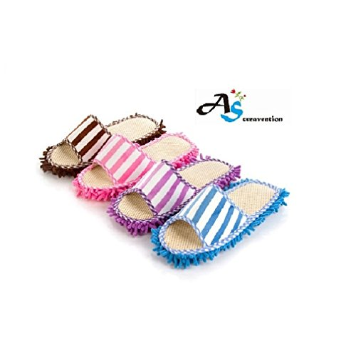 A&S Creavention® Microfiber Cleaning Mop Slippers (4 pcs Colors Mix)