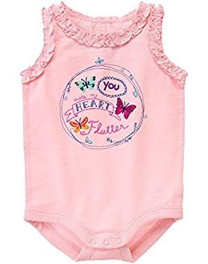 Clothing Baby Pink Onesie Heart Flutter (6 - 12 Months)