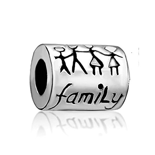 (SexyMandala Letter Family Together Mom Dad Daughter Son child Charms Bead For Bracelets)