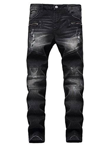Biker Black Denim - 7