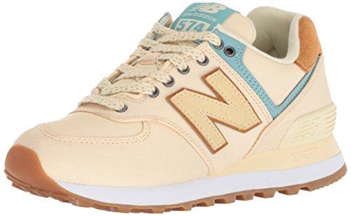 Yellow New Balance (New Balance Women's 574v2 Sneaker, Vanilla, 10 D US)