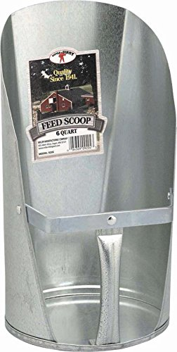 Image of Miller CO Galvanized Feed Scoop, 6 quart