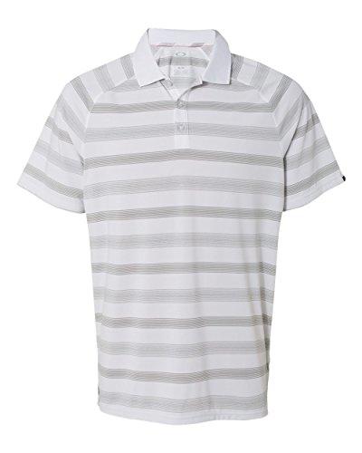 Oakley Mens 433226 Warren 2.0 Golf Shirt, White - XXL