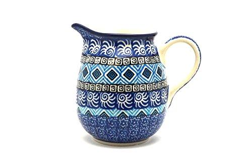Polish Pottery Creamer - 10 oz. - Aztec Sky (Creamer Aztec)