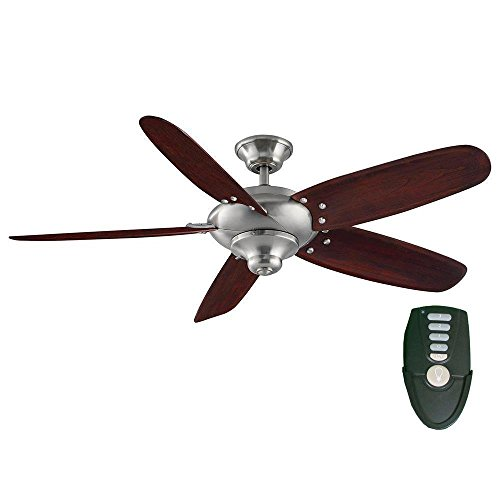 Home Decorators Collection Altura 56 in. Indoor Brushed Nickel Ceiling Fan with Remote Control ()