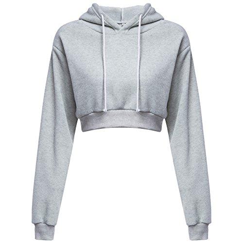 Felpa Manica Top T Ragazza Sexy Tumblr Nero Grigio Shirt Donna Elegante Pullover Magliette Autunno Inverno Crop Blusa Weant Lunga Bianca Camicia Maglie wqTnCIx6p