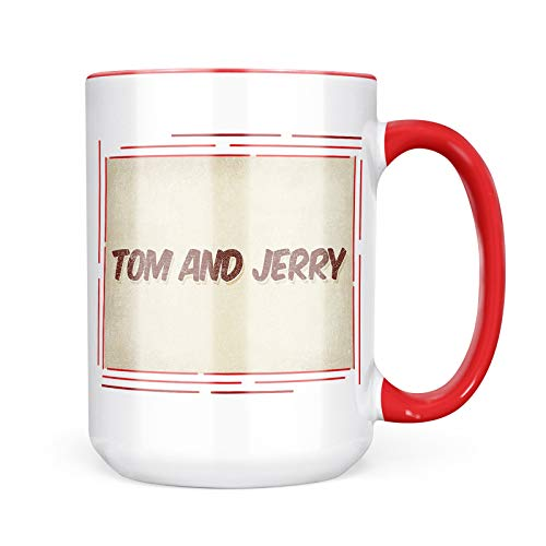 (Neonblond Custom Coffee Mug Tom and Jerry Cocktail, Vintage style 15oz Personalized Name)