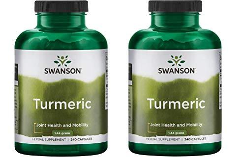 Swanson Premium Brand Turmeric Whole Root Powder 720 mg, 240 Capsules-2 Count,