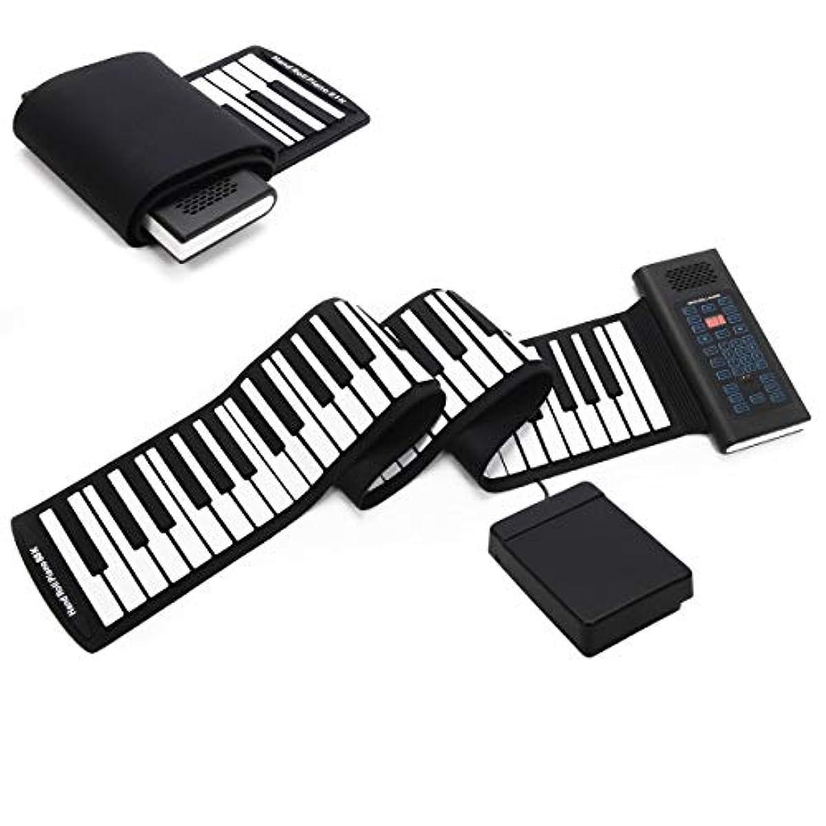 [해외] 포터블61/88 키 롤업 피아노 키보드 디지털 전자 소프트 키즈 크리스마스 뮤지컬 장난감 88 키
