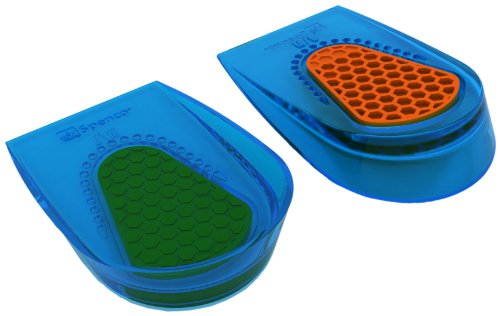 Spenco Gel Heel Cup Shoe Inserts for Pain Relief from Heel Spurs or Bruising,  Small/Medium