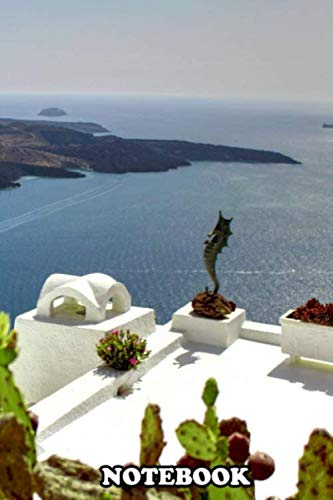 """Notebook: Best Landscape Collection Santorini , Journal for Writing, College Ruled Size 6"""" x 9"""", 110 Pages"""