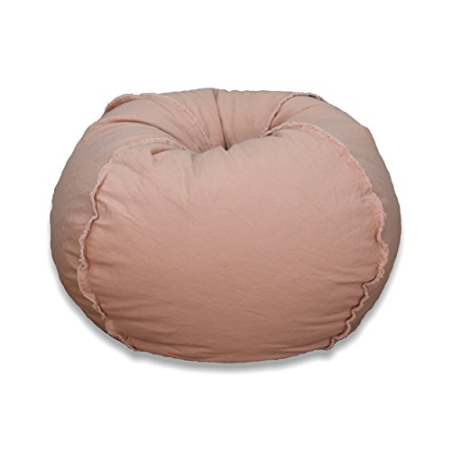 Michael Anthony Large Canvas Bean Bag Chair in Dusty Pink