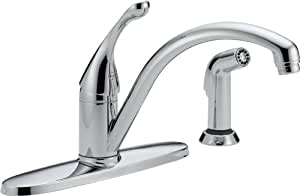Delta 440-WE-DST Collins Single Handle Water-Efficient Kitchen Faucet with Spray, Chrome