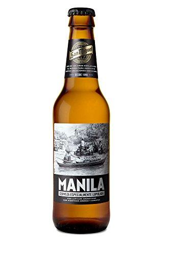 San Miguel Manila Cerveza Dorada Indian Pale Lager, 5.8% Volumen de Alcohol – Pack de 24 x 33 cl