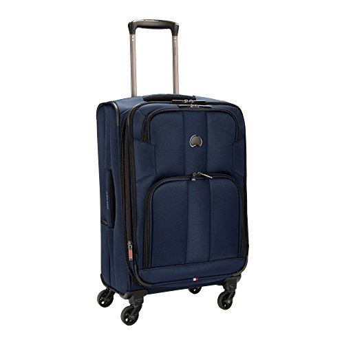 Delsey Sky Max 21-Inch Expandable Spinner Carry-On (Blue)