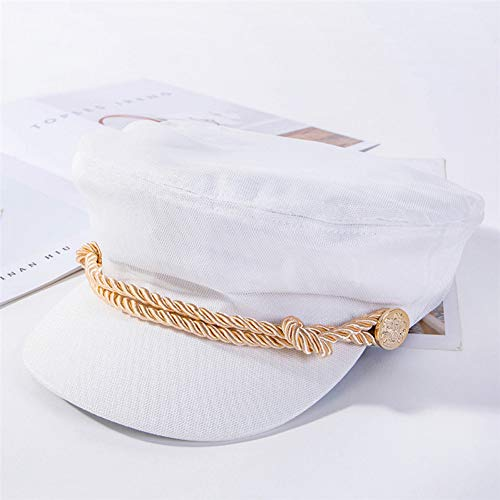 ZYKIMYONG Newsboy Caps Women Yarn Wrapping Cap Solid Color Flat Top Caps
