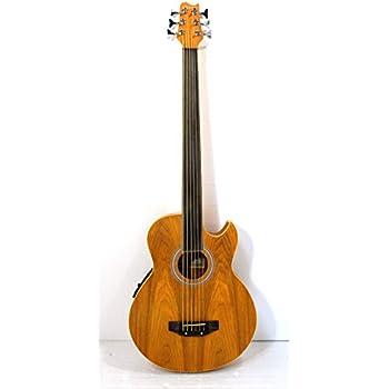 fretless 6 string acoustic electric cutaway bass guitar musical instruments. Black Bedroom Furniture Sets. Home Design Ideas