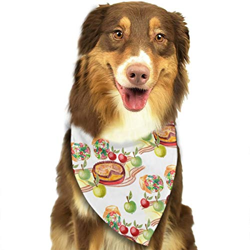OURFASHION Apple Pie Pattern Bandana Triangle Bibs Scarfs Accessories for Pet Cats and Puppies ()