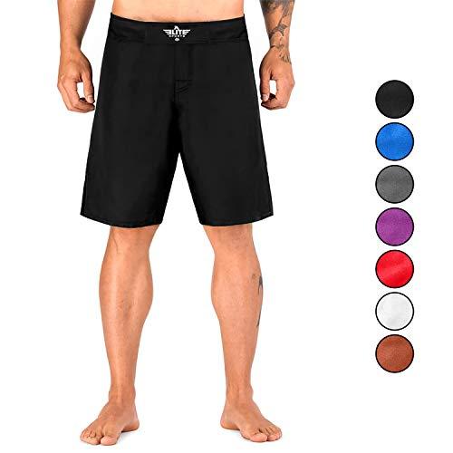 Elite Sports NEW ITEM Black Jack Series Fight Shorts,Black,Medium