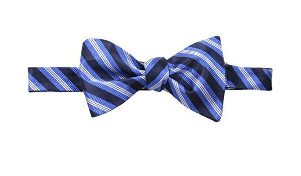72958c09f10b Amazon.com: Tommy Hilfiger Men's Tri Stripe and Solid Self Bow Tie and Pocket  Square Set, Navy One Size: Clothing