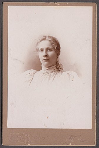 (Anna Monson blonde young woman cabinet photo by Horner Boston)